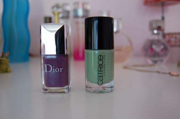 Nagellack Forget-Me-Not von Dior und Sold Out For Ever von Catrice