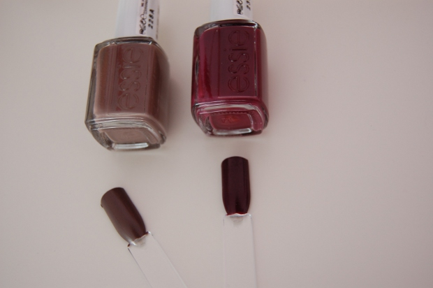 Essie Recessionista und Don't sweater it aufgetragen