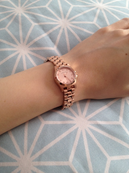 Marc by Marc Jacobs Henry Dinky Uhr in roségold