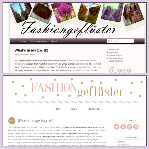 Neues Layout bei Fashiongefluester