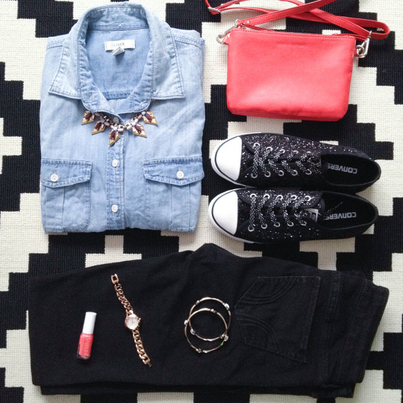 Outfit - Jeanshemd und Chucks