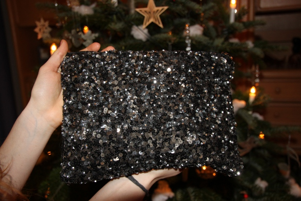 Zara Glitzerclutch